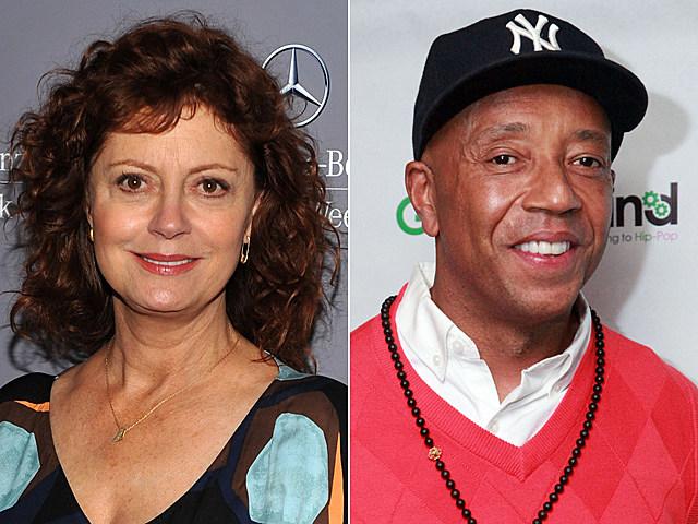 Susan Sarandon, Russell Simmons