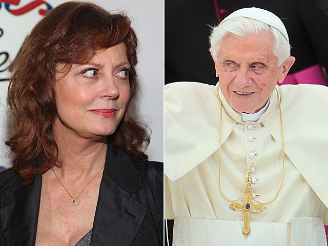 Susan Sarandon, Pope Benedict XVI