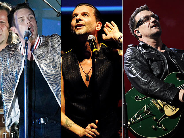The Killers, Depeche Mode, U2