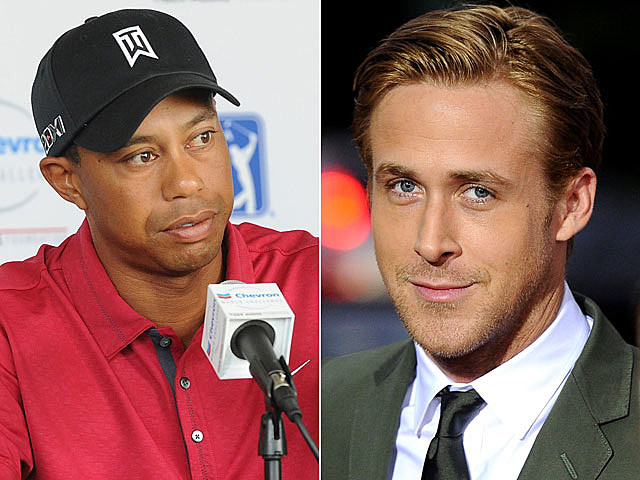 Tiger Woods, Ryan Gosling