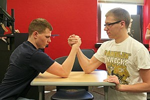 Two Gents Arm-Wrestling