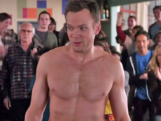 Joel McHale, shirtless on 'Community'
