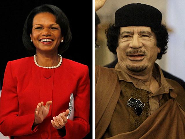 Condoleezza Rice Muammar Gaddafi