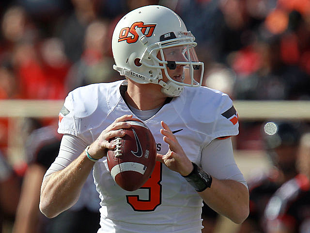 Oklahoma State's Brandon Weeden will put his 10-0 career road record--and his Heisman campaign--on the line Friday night at Iowa State.
