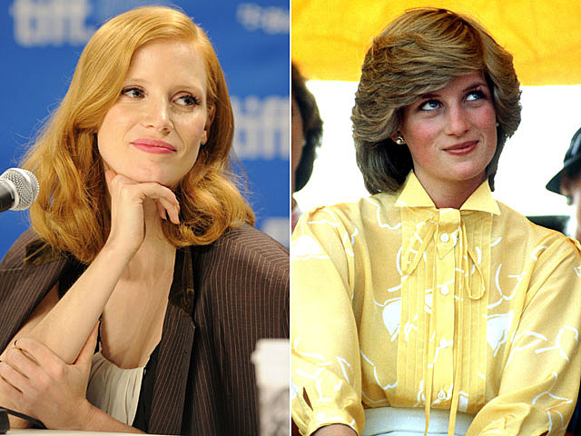 Jessica Chastain, Princess Diana movies