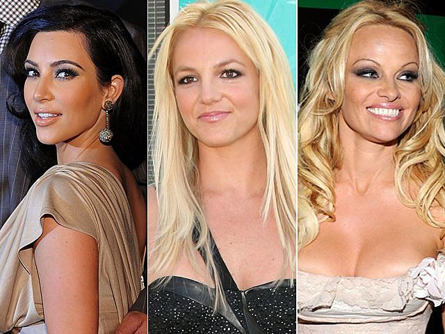 Kim Kardashian, Britney Spears, Pamela Anderson