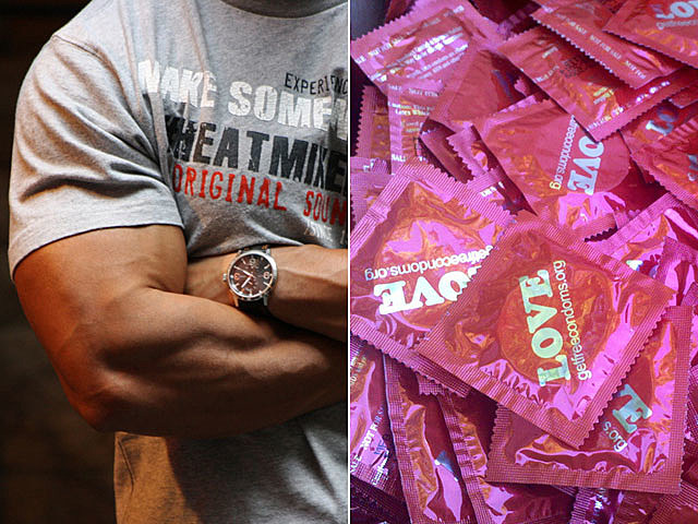 Macho men wear condoms
