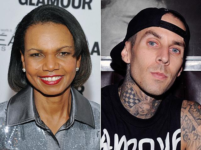 Condoleezza Rice, Travis Barker
