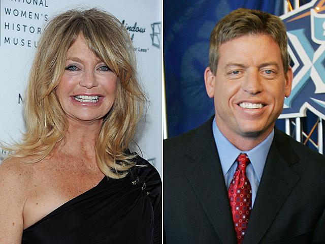 Goldie Hawn, Troy Aikman