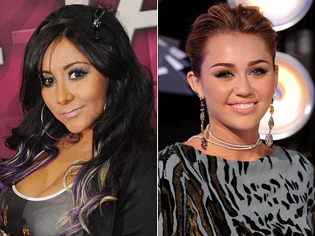 Nicole 'Snooki' Polizzi, Miley Cyrus