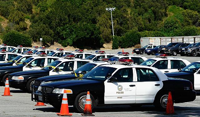 police patrol cars