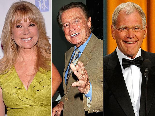 Regis Philbin, Kathie Lee Gifford, David Letterman