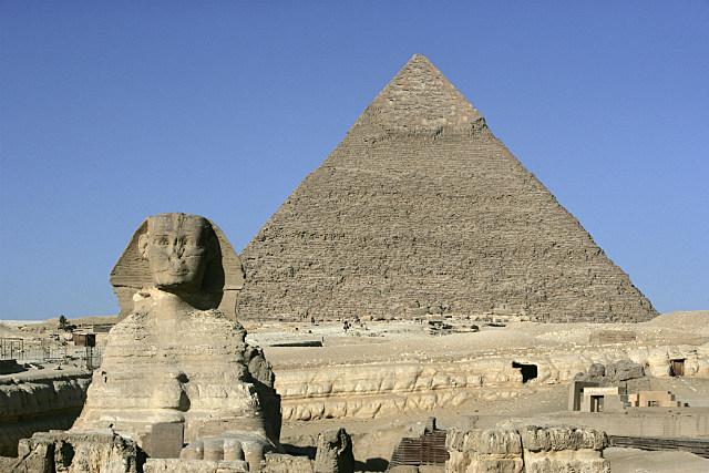 Sphinx Pyramid Egypt Giza Necropolis
