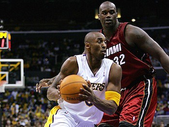 Kobe Bryant and Shaquille O'Neal Christmas 2004