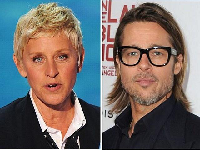 Ellen Degeneres Brad Pitt