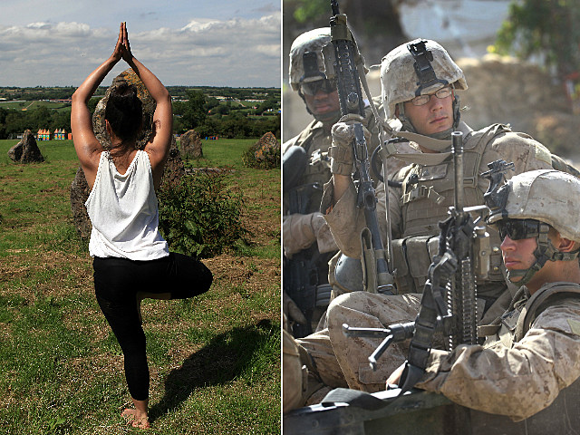 yoga could help soldiers