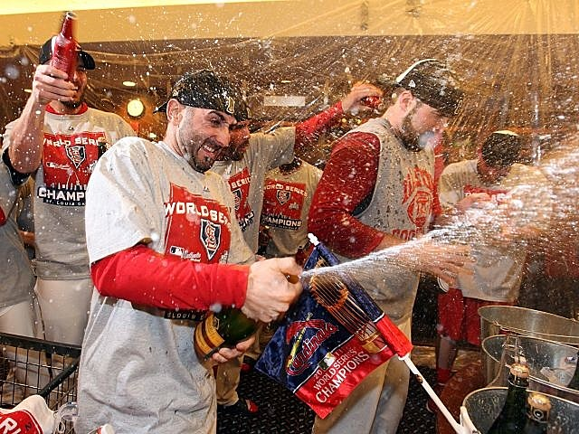 The Cardinals celebrate their unlikely World Series title.