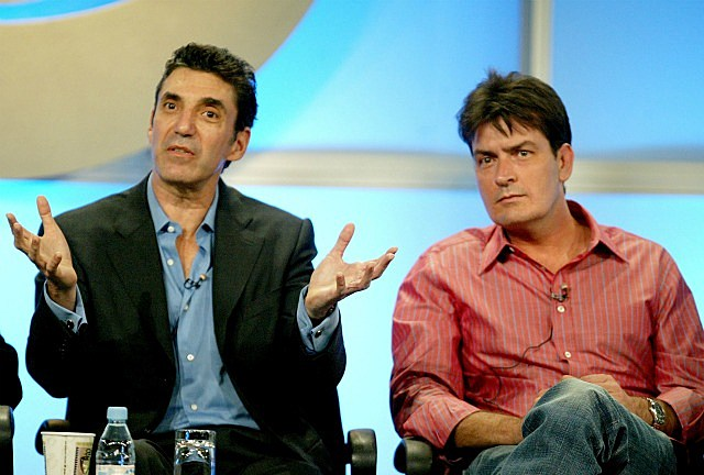 Chuck Lorre and Charlie Sheen