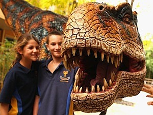 Walking With Dinosaurs Meets Children In Melbourne