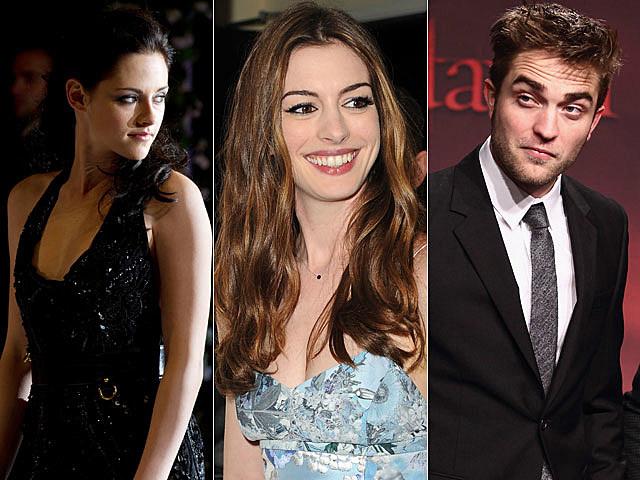 Kristen Stewart, Anne Hathaway, Robert Pattinson, Forbes