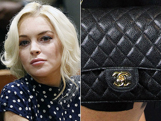 Lindsay Lohan Chanel purse