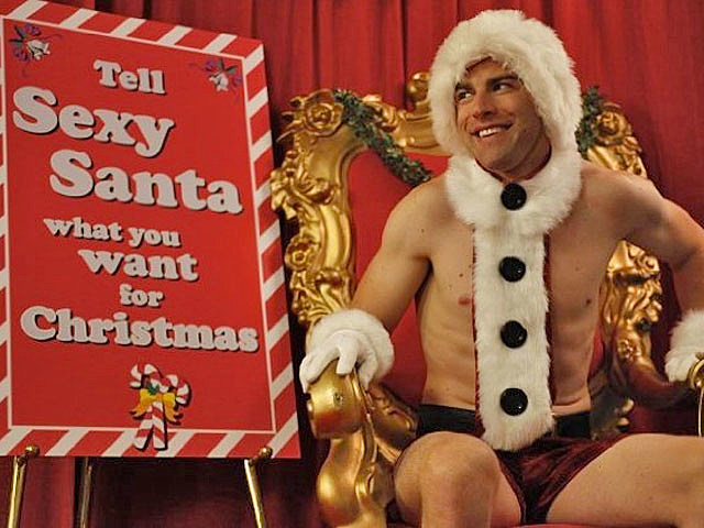 Max Greenfield, sexy Santa