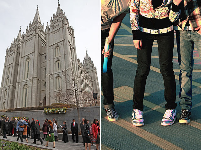 Mormon school against tight pants