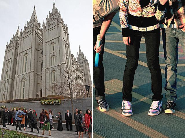 Mormon school against tight pants