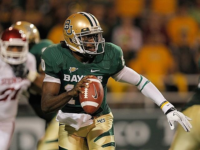 Heisman winner Robert Griffin III to enter NFL draft.