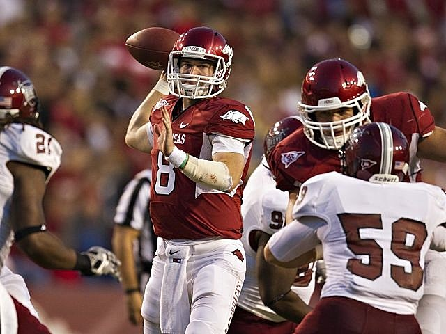 Arkansas quarterback Tyler Wilson leads the Razorbacks into the Cotton Bowl.