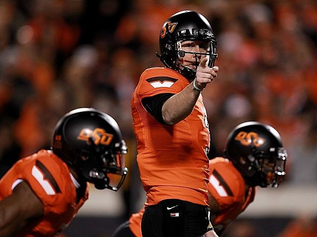 Brandon Weeden leads Oklahoma State into the Fiesta Bowl.
