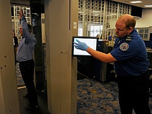 TSA scanner at the Vegas airport