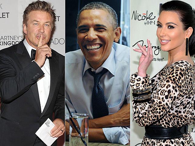 Alec Baldwin, Barack Obama, Kim Kardashian