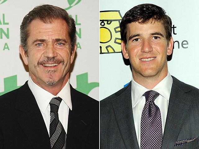 Mel Gibson, Eli Manning