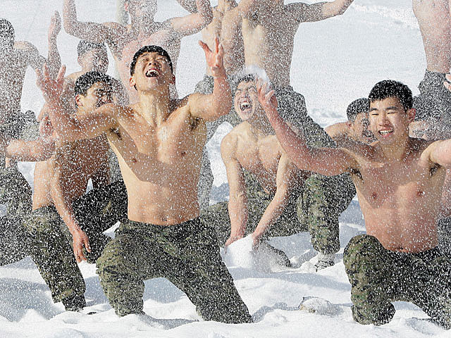 South Korea army training