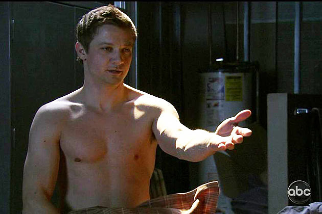 Jeremy Renner shirtless