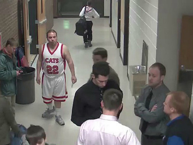Piggyback Bandit caught on a security camera at Century High in ND
