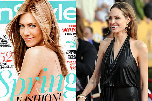 Jennifer Aniston on InStyle, Angelina Jolie