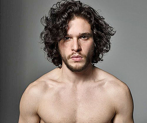 Kit Harington shirtless in Men's Journal