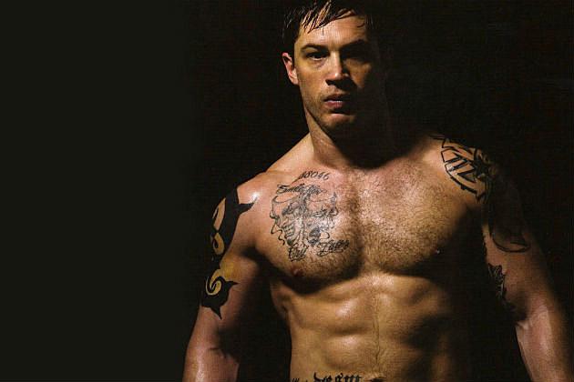 Tom Hardy shirtless