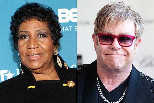 Aretha Franklin, Elton John