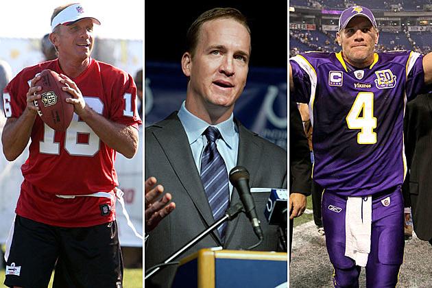 Joe Montana, Peyton Manning, Brett Favre