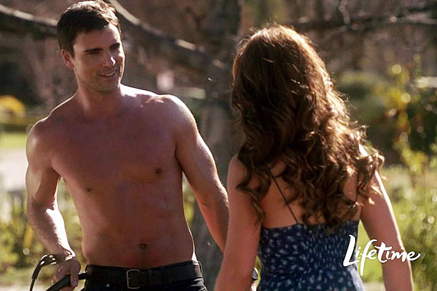 Colin Egglesfield shirtless in 'The Client List'