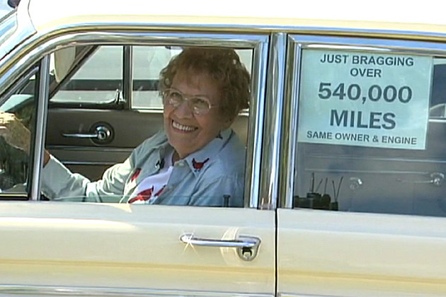 Grandma retires car after 576,000 miles