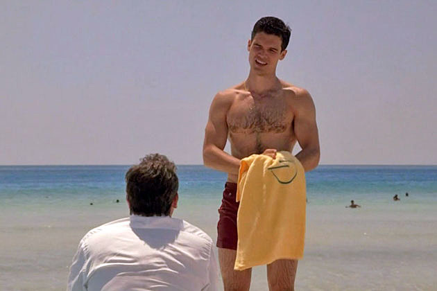 Steven Strait shirtless in 'Magic City'