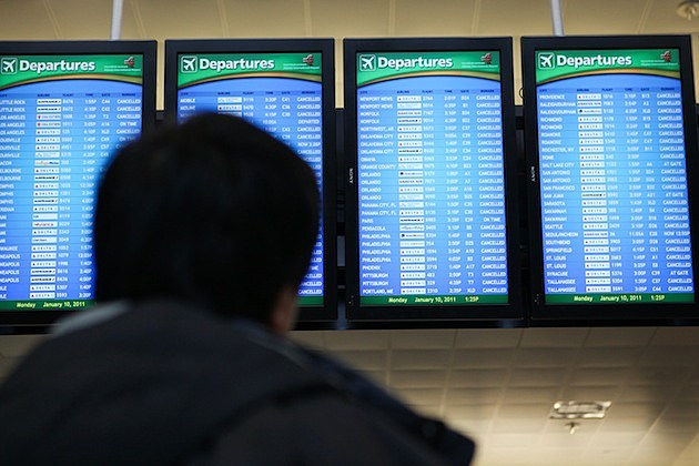 U.S. South Hit By Crippling Winter Storm airline departures arrivals