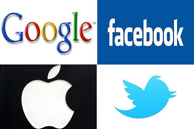 Google, Facebook, Apple, Twitter