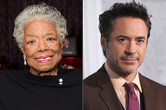 Maya Angelou, Robert Downey, Jr.
