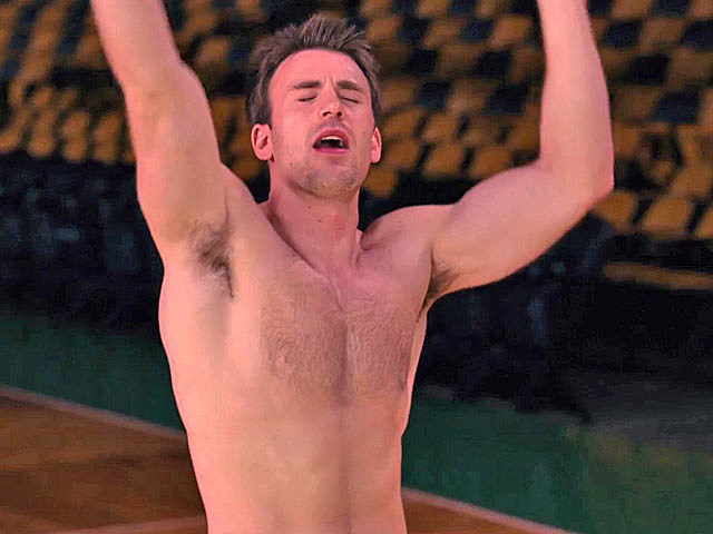 Chris Evans shirtless in 'What's Your Number?'