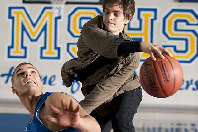Chris Zylka and Andrew Garfield in 'The Amazing Spider-Man'